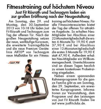 Diesen regionalen Materndienst haben wir für ein Fitness-Studio in Rösrath geschaltet. Er erschien nur im Einzugsbereich des Fitness-Studios.